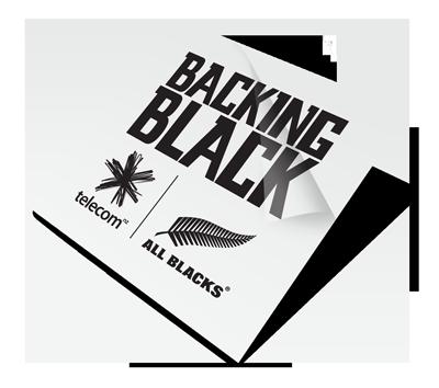Backing Black Custom Temporary Tattoo